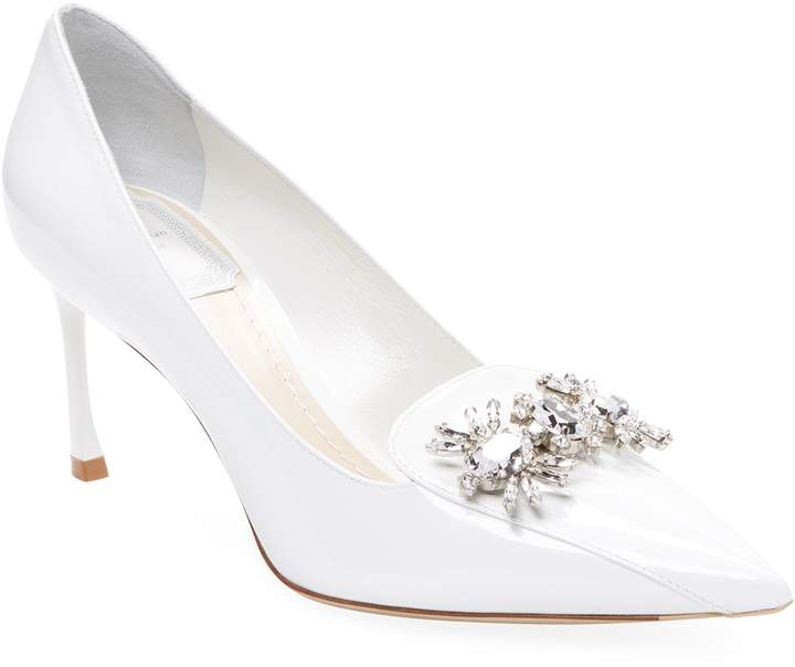 Dior Women's Embellished Patent Leather Pump