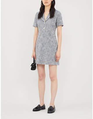 Claudie Pierlot Revere-collar tweed mini dress
