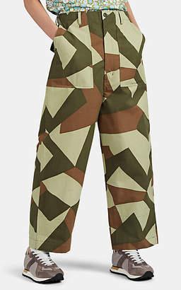Junya Watanabe Comme des Garçons Men's Camouflage-Print Ripstop Cargo Pants - Brown