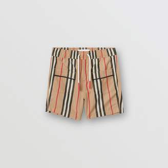 Burberry Icon Stripe Cotton Poplin Shorts