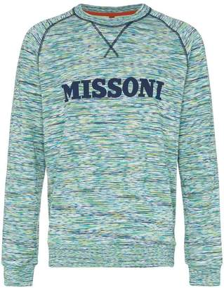 Missoni logo embellished cotton jumper