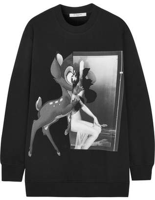 Givenchy - Printed Cotton-jersey Sweatshirt - Black