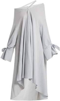 Palmer Harding PALMER/HARDING Jasmin off-shoulder striped cotton dress