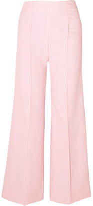 Emilia Wickstead Hullinie Crepe Wide-leg Pants - Blush