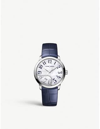 Ulysse Nardin 81532016003 Classico Jade stainless steel and diamond watch