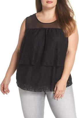 Sejour Lace Tier Top (Plus Size)