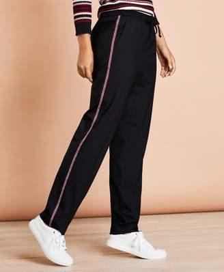 Brooks Brothers Stripe-Trimmed Wool-Blend Track Pants