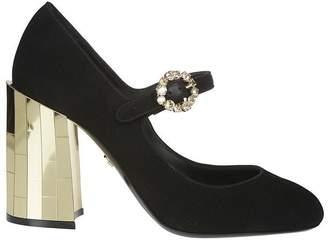 Dolce & Gabbana Metallic Chunky Heel Pumps