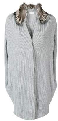 Peserico fur collar cardigan