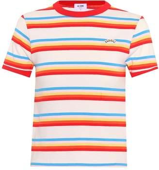 Ringer striped cotton T-shirt