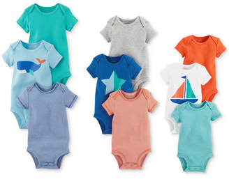 Carter's 9-Pk. Grow With Me Cotton Bodysuits Set, Baby Boys