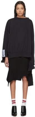 Vetements Black In Progress Sweatshirt