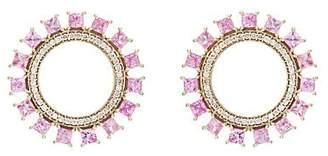 Ileana Makri Women's Glimmer Sun Stud Earrings - Pink
