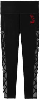 Victoria's Secret Victorias Secret Cotton High Waist Lace-Up Mesh Ankle Legging