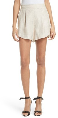 Women's Milly Linen Blend Petal Shorts $200 thestylecure.com