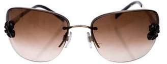Chanel Camellia Half Rim Sunglasses
