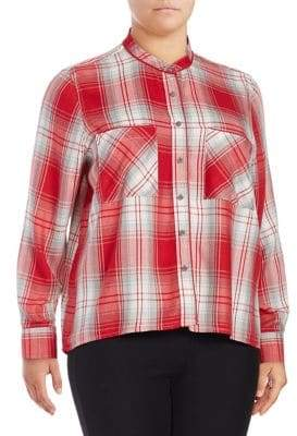 Seven7 Plus Plaid Button-Down Shirt