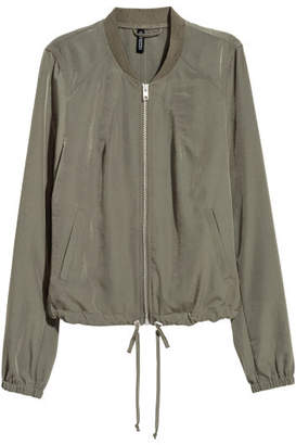 H&M Satin Bomber Jacket - Green