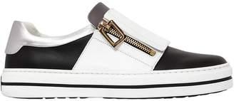 Roger Vivier 20mm Sneaky Viv Zip-Up Leather Sneakers