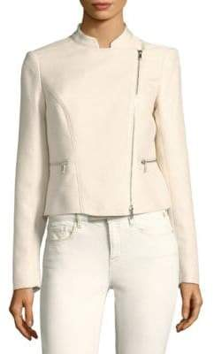 Lafayette 148 New York Cropped Moto Jacket