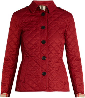 BURBERRY Ashurt diamond-quilted jacket $442 thestylecure.com