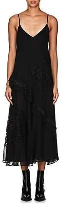 Derek Lam 10 Crosby Women's Lace-Inset Georgette Midi-Dress - Black