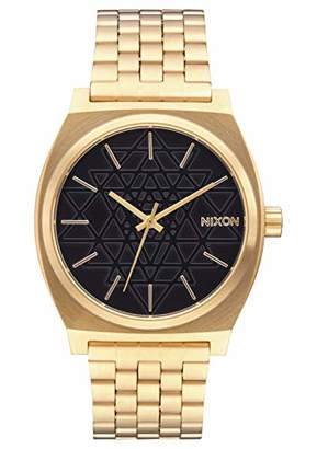 Nixon Time Teller A0452478-00. Gold and Black Women's Watch (37mm. Gold Metal Band/ Black Stamped Watch Face)