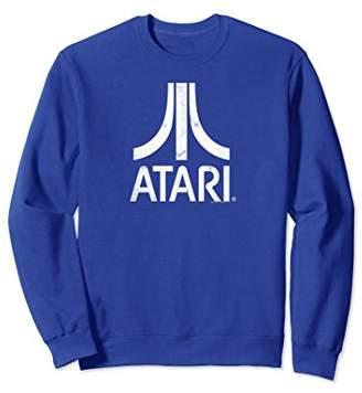 Atari White Slight Distressed Logo Sweatshirt