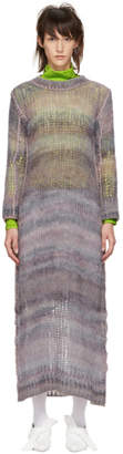 Acne Studios Grey and Pink Mohair Dress