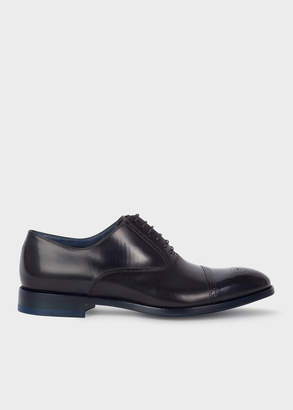Paul Smith Men's Dark Navy Calf Leather 'Bertin' Brogues