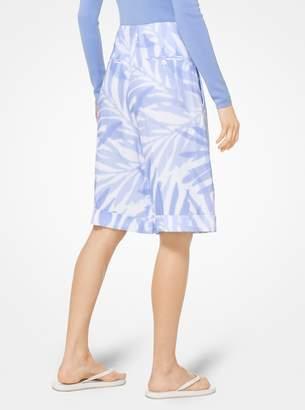 Michael Kors Palm Linen Shorts