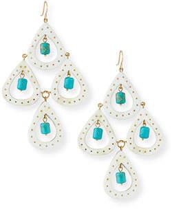 Ashley Pittman Jasiri Light Horn Tiered Drop Earrings