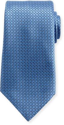 Ermenegildo Zegna Textured Solid Silk Tie, Light Blue $195 thestylecure.com