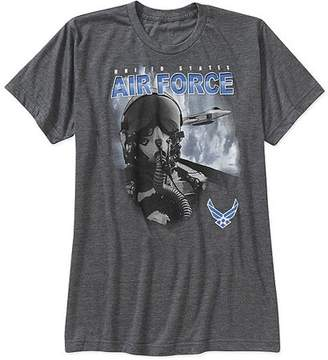 Americana HighVis Design Air Force Select Comfort Wear Big Men's Graphic Tee 2XL
