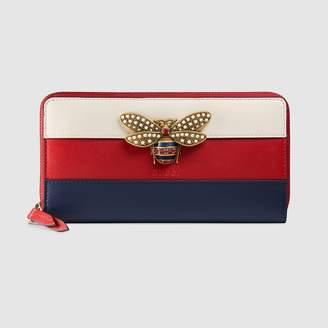 Gucci Queen Margaret leather zip around wallet