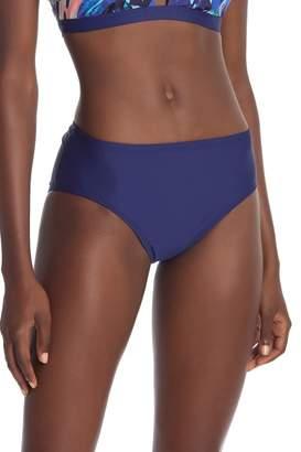 Next Mid Waist Solid Bikini Bottoms