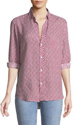 Frank And Eileen Eileen Long-Sleeve Button-Down Floral-Print Linen Shirt