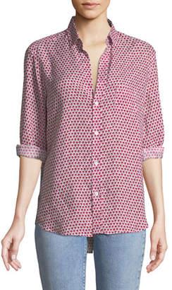 Frank And Eileen Eileen Long-Sleeve Button-Down Floral-Print Linen Shirt