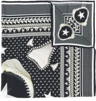 Givenchy shark tooth printed scarf