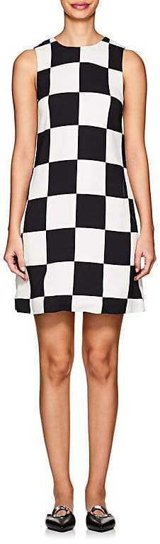 Women's Checkerboard Crepe Shift Dress