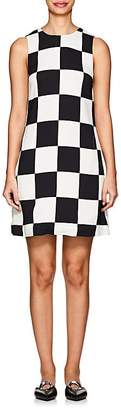 Lisa Perry Women's Checkerboard Crepe Shift Dress