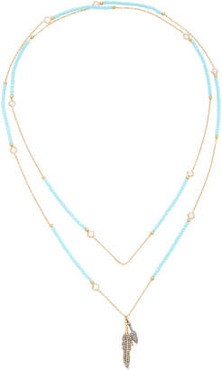 Swarovski Nickho Rey Turquoise Indian Crystal and Diamond Necklace