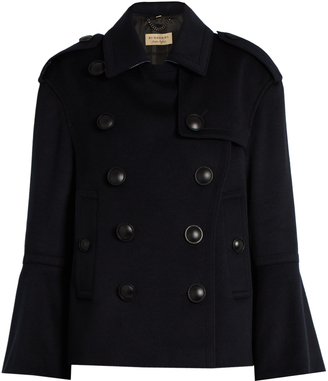 BURBERRY Townhill wool and cashmere-blend pea coat $982 thestylecure.com