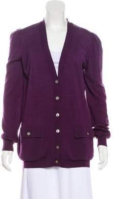 Stella McCartney Fleece Wool Button-Up Cardigan