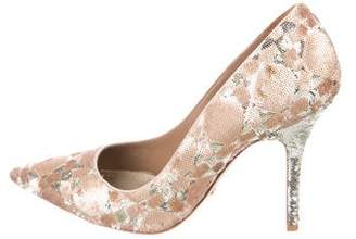 Christian Dior Sequin Pointed-Toe Pumps