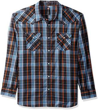 Dickies Men's Long Sleeve Relaxed fit Western Plaid Shirt