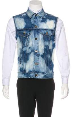 Saint Laurent 2016 Bleached Denim Vest w/ Tags