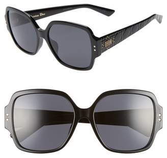 Christian Dior Lady Stud 57mm Special Fit Square Sunglasses