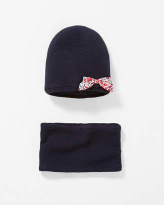 Jacadi Hat And Snood Set