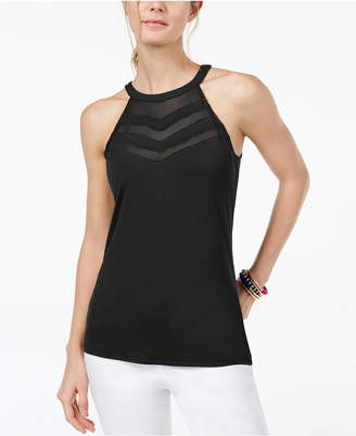 INC International Concepts I.N.C. Illusion Halter Top, Created for Macy's
